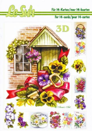 Flowers 3D Decoupage Book from Le Suh